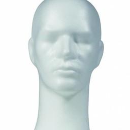 Pruikenkop wit hoogte 33cm - heer