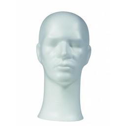 Shop Supplies Pruikenkop wit hoogte 33cm - heer