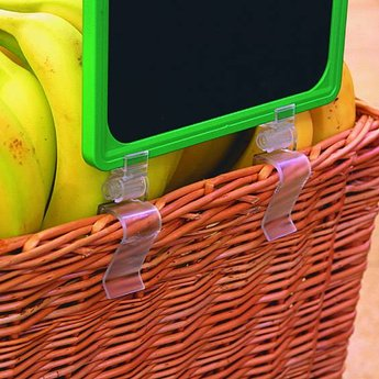 Kistklem 2-delig verstelbaar transparant voor prijskaartramen A6 - A5 - A4