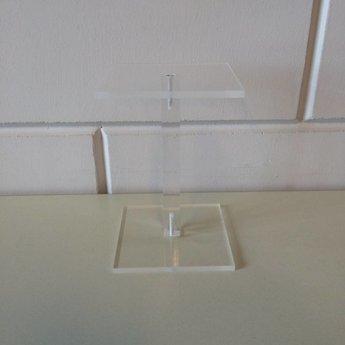 Acryl-schoenstandaard / zuiltje 10x10cm hoog 150mm<br /> Geproduceerd in Duitsland / Made in Germany.