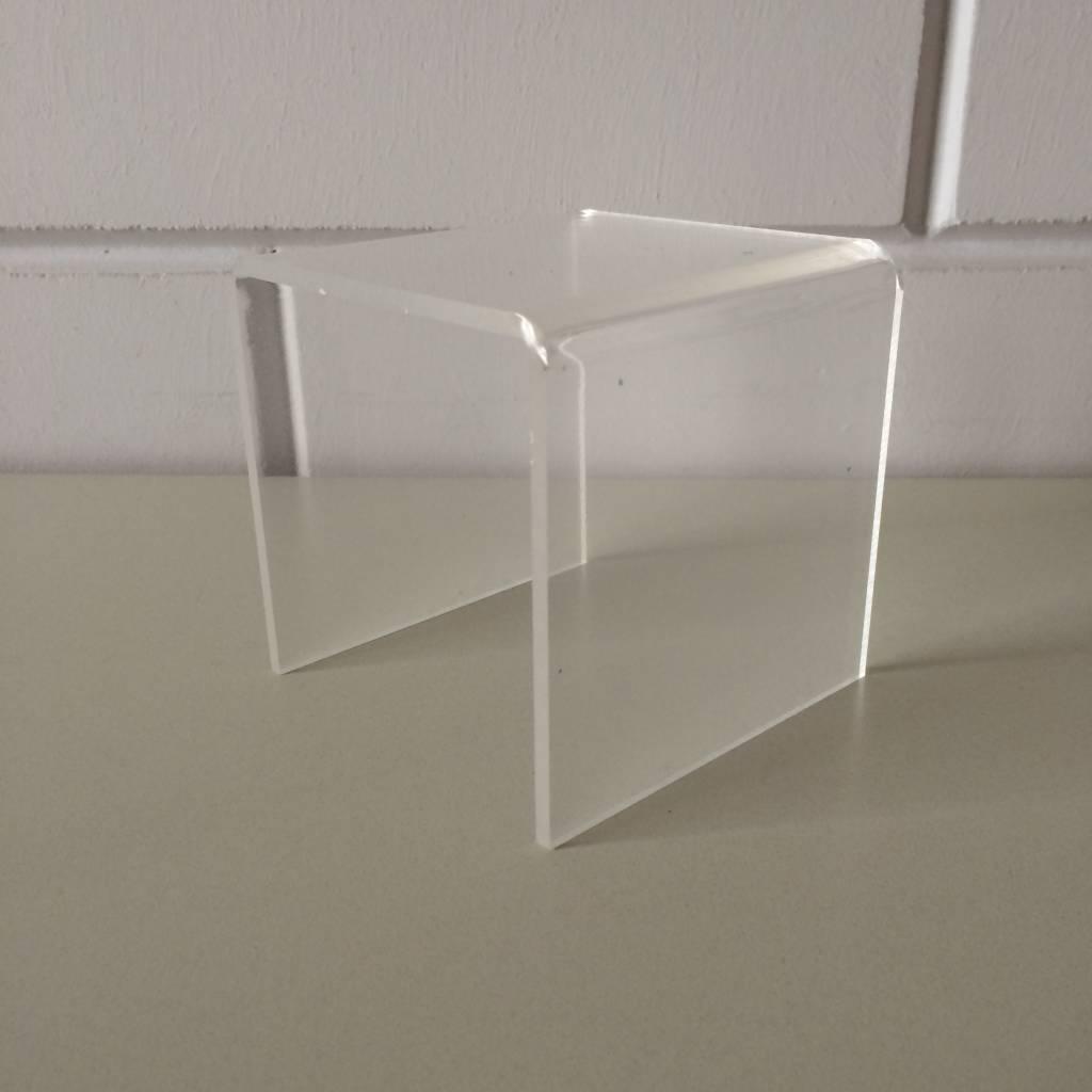 Acryl-bruggetje 10x10cm hoogte 10 cm, dikte 4mm, helder transparantMade in Holland