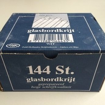 Glasbordkrijtjes - wit - 144 stuks