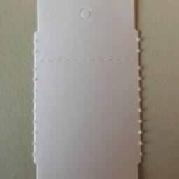 Hangetiket op rol 58x30 mm perf.wit 2000