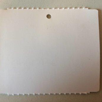 Hangetiket op rol 58x50 mm blanko onbedrukt 1000/rol