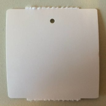 Hangetiket op rol 58x60 mm blanko onbedrukt 1000/rol