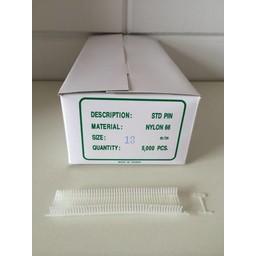 Nylon textielpins  13mm standaard 5000st