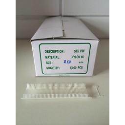 Nylon textielpins  19mm standaard 5000st