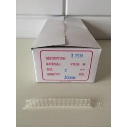 Nylon textielpins   7mm fijn    10.000st