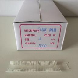 Nylon textielpins  15mm fijn      5000st