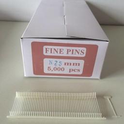 Nylon textielpins  25mm fijn      5000st