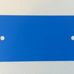 PVC labels 64x118mm blauw2xgat rondehoek