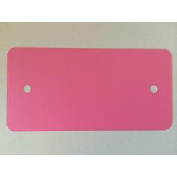 PVC labels 64x118 mm rose 2xgat rondhoek
