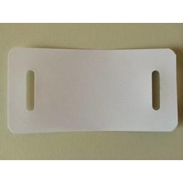 Kupa-labels 54x110 mm wit 2 band-sleuven
