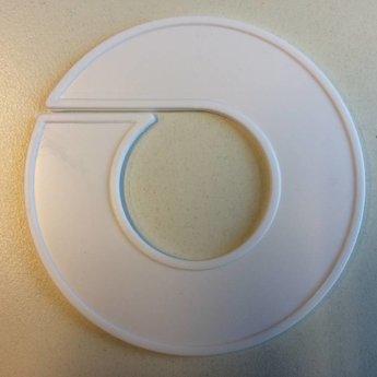 Maatring 9 cm wit       onbedrukt/blanco<br /> Diameter van de maatring is 9cm, en de diameter van het gat is 4cm.