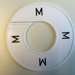 Maatring wit/zwart   M