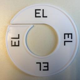 Maatring wit/zwart  EL