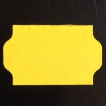 Etiket 3219 golfrand geel permanent 2slit, doosinhoud 30 rollen