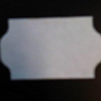 Etiket 3219 golfrand wit permanent 2slit, doosinhoud 30 rollen