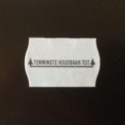 Etiket 2516 wit diepvries 2-slit THT