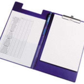 Klembord / Schrijfbord / Clipboard standard A4 met zware klem, kleur blauw