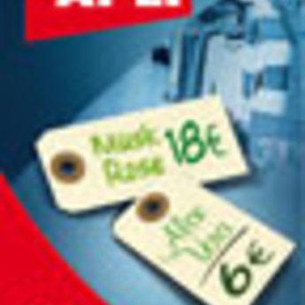 Apli Apli-nr. 101659  Labels 80x38 mm verpakking met 12 stuks. Shipping tags. Om te beschrijven met pen, van prijs of nummer.