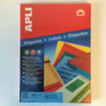 Apli Apli-nr. 11837  Laser/inkjet/kopieer-etiketten op A4 vellen, kleur GROEN etiketafmeting 70x37mm  100 vel
