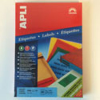 Apli Apli-nr. 11836  Laser/inkjet/kopieer-etiketten op A4 vellen, kleur ROOD etiketafmeting 70x37mm  100 vel