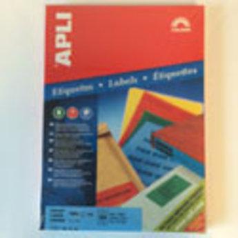 Apli Apli-nr. 11835  Laser/inkjet/kopieer-etiketten op A4 vellen, kleur BLAUW etiketafmeting 70x37mm  100 vel