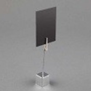 Deco-knijpstandaard hoogte 8,3 cm, kleur chrome.