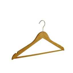 Houten hanger 43cm broeklat+inkeping