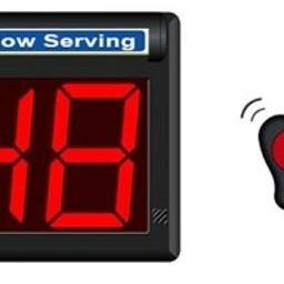 Minipoint Volgnummerklok met draadloze afstandbedi