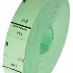 Ticketrol groen 30x65mm 1000st