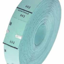 Ticketrol blauw 30x65mm 1000st