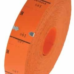 Ticketrol oranje 30x65mm 1000st