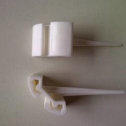 Prijspen kunststof wit lengte 5cm 10 st
