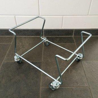 Standaard universeel met wielen, voor winkelmandjes 22 liter, verrijdbaar, rolsokkel, kleur zwart.