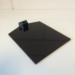 Voetplaat kunststof-zwaar - zwart