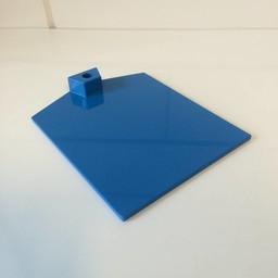Voetplaat kunststof-zwaar - blauw