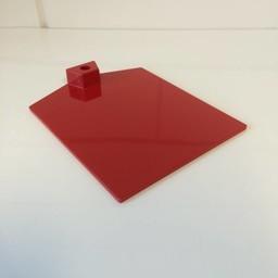Voetplaat kunststof-zwaar - rood