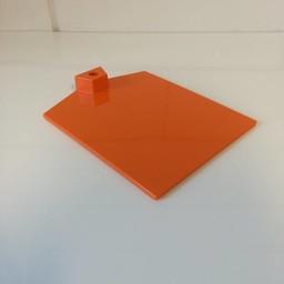 Voetplaat kunststof-zwaar - oranje