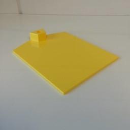 Voetplaat kunststof-zwaar - geel