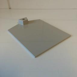 Voetplaat kunststof-zwaar - grijs