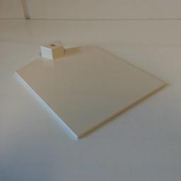 Voetplaat kunststof-zwaar - wit