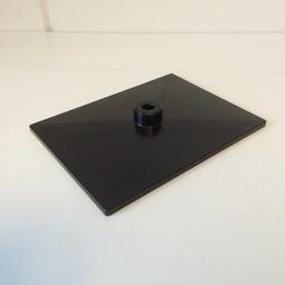Voetplaat volledig kunststof - zwart