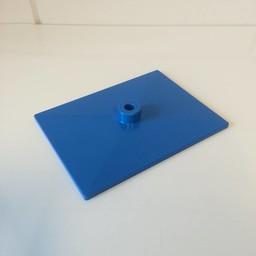 Voetplaat volledig kunststof - blauw