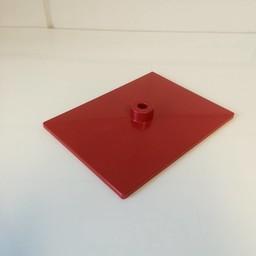 Voetplaat volledig kunststof - rood