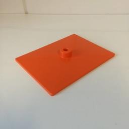 Voetplaat volledig kunststof - oranje