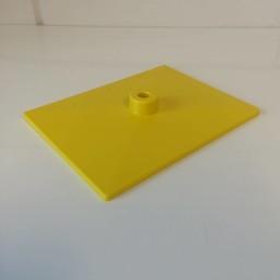 Voetplaat volledig kunststof - geel