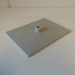 Voetplaat volledig kunststof - grijs