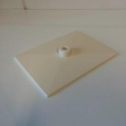 Voetplaat volledig kunststof - wit